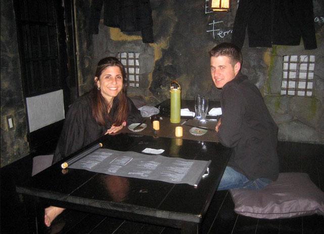 Eating at Ninja restaurant