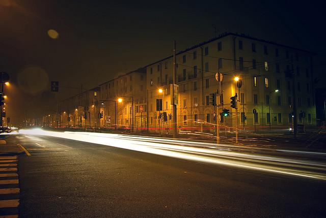 Main road,Milano-Italy