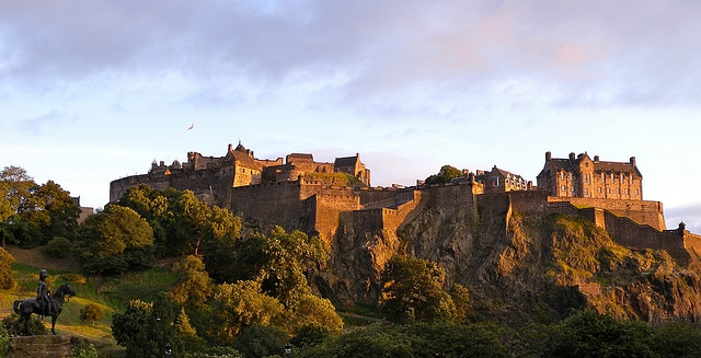View of the castle, Edinburgh-Scotland