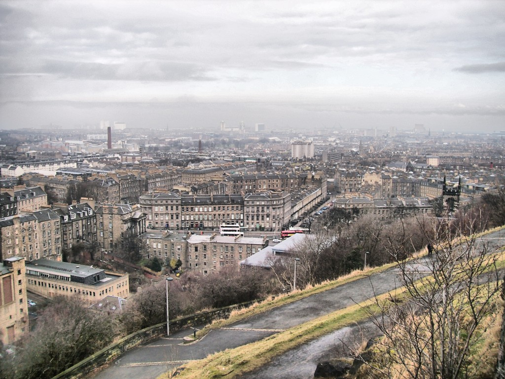 View of the city of Edinburgh-Scotland