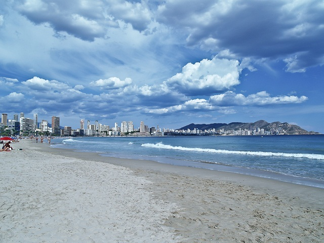 Benidorm after storm