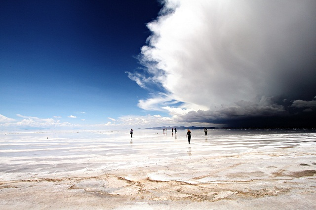 Storm over the Salar de Uyuni