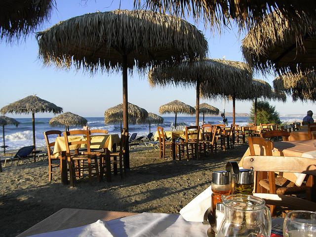 Greek taverna, Platanias, Crete