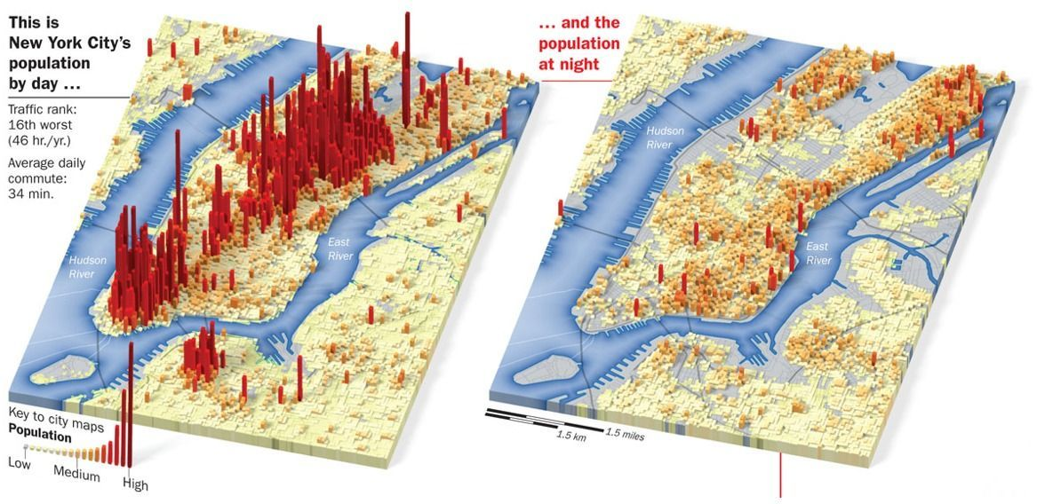 Shifts Maps Of US City Populations - Us map city population