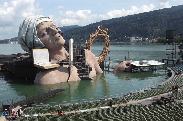 The festival of Bregenz-Austria