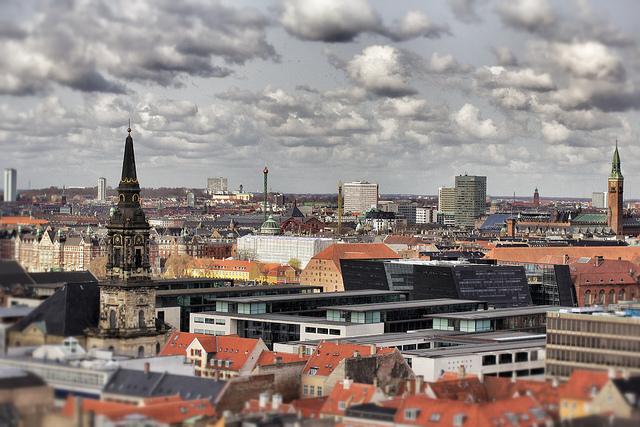 TiltShift City Scape Copenhagen