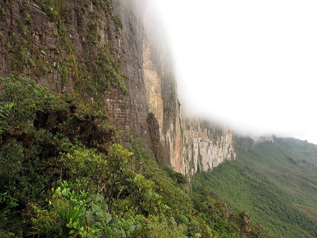 View of the Mount Roraima in Venezuela