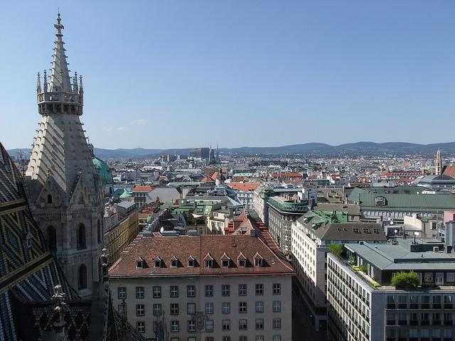 View of the city of Viena-Austria