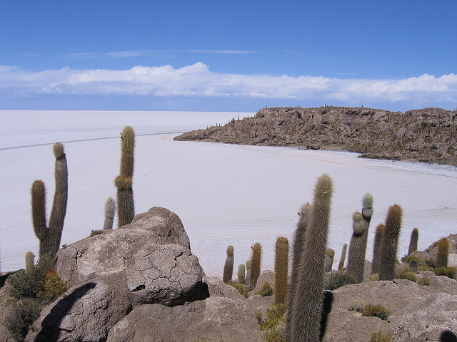 Spectacular natural view, from Salar de Uyuni-Bolivia