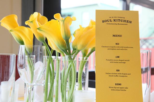 JBJ Soul Kitchen table menu
