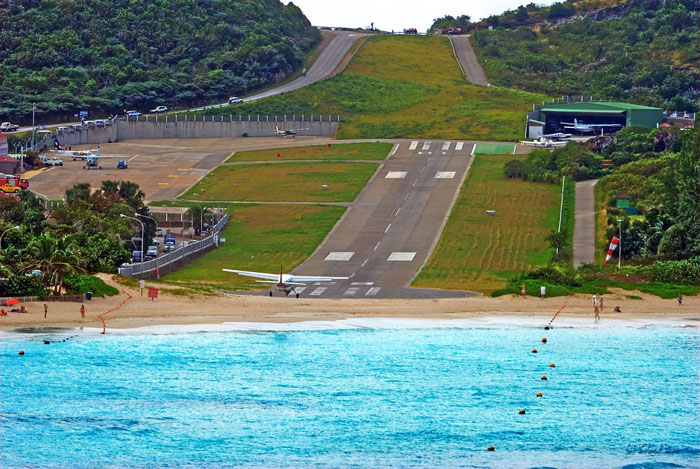 Gustaf III Airport, St. Barthelemy, Caribbean