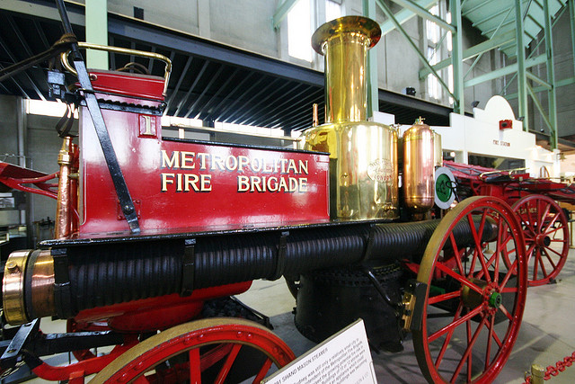 19th century fire engine at the Museum of Fire, Penrith, NSW, Australia.