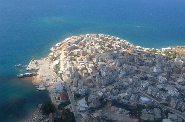 Saranda from air