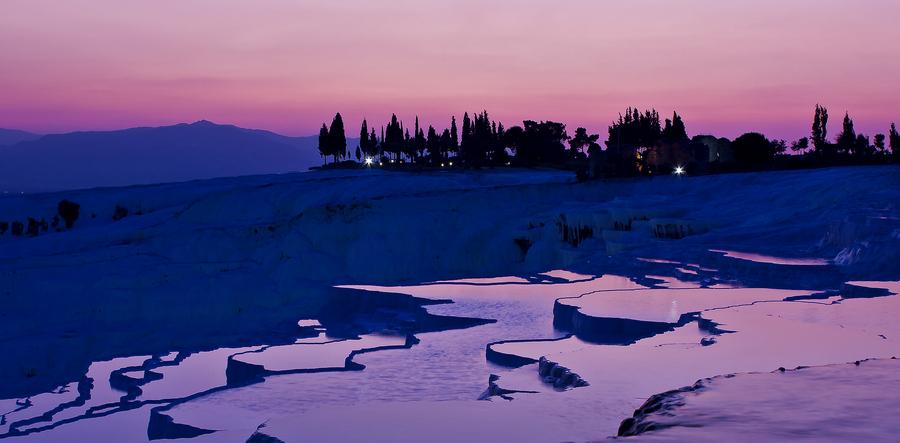 Sunset at the Pamukkale