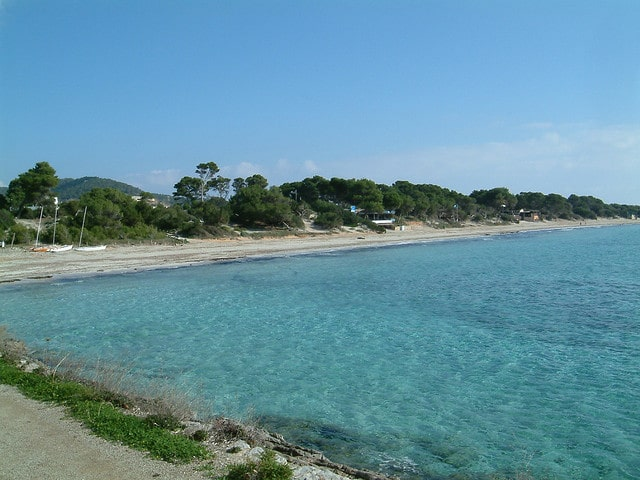 Salinas beach south coast of Ibiza