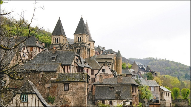 Conques Village, Castles View