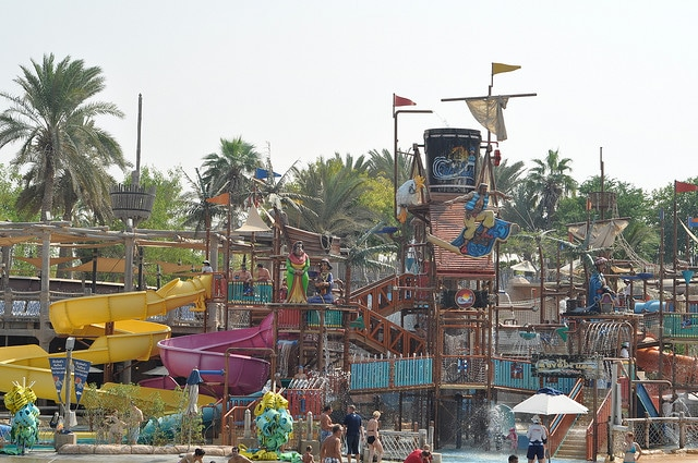 Kids water slides at Wild Wadi