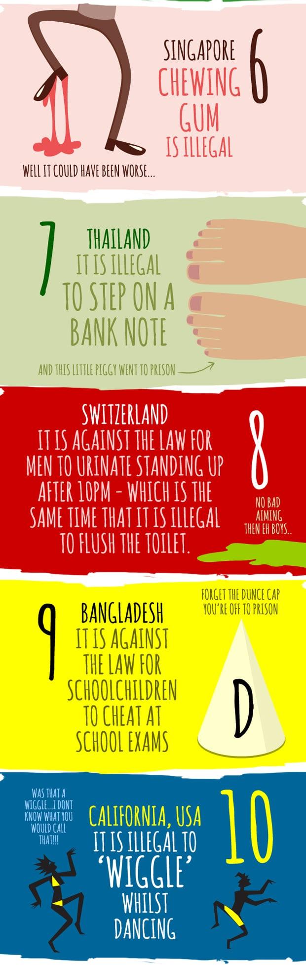 The strangest laws around the world