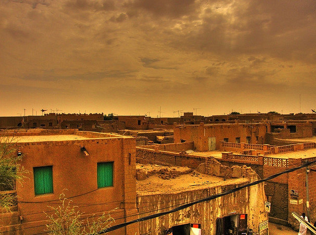Timbuktu, viewed from the top of its central market.