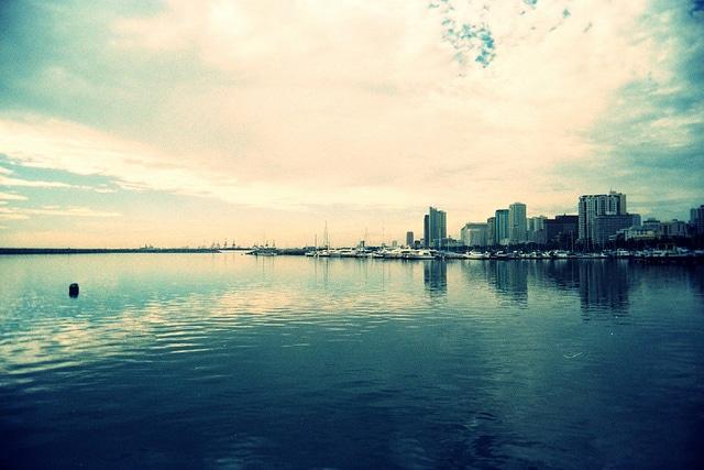 Manila Bay in the morning