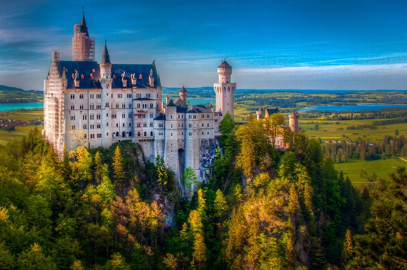 Neuschwanstein castle front view
