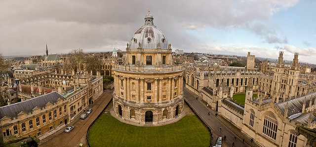 Panorama of Oxford from the tower of University Church of St Mary the Virgin