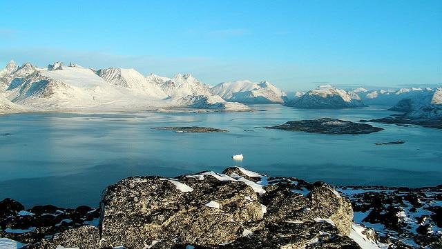 View from Ravnefjeldet, next to Nanortalik, Greenland