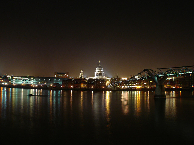 Nightime in London