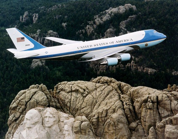 The Airforce flies on Rushmore