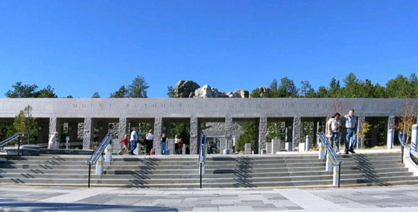 The entrance to Mount Rushmore