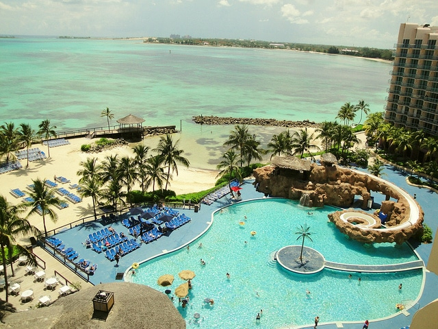 View from balcony at Wyndham in Bahamas