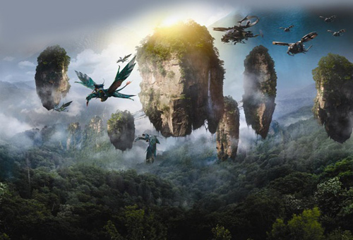The flying mountains of avatar are located in china