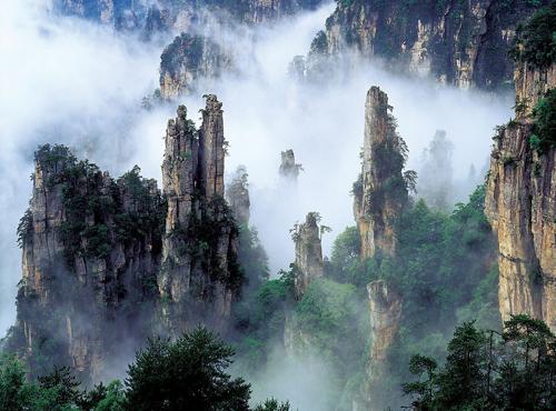 Mountains in Zhangjiajie