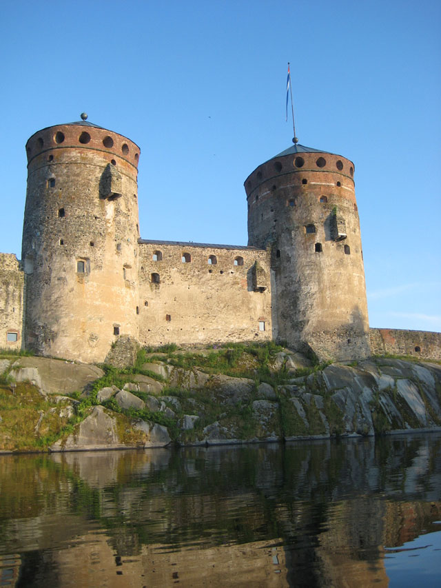 Olavinlinna castle big towers