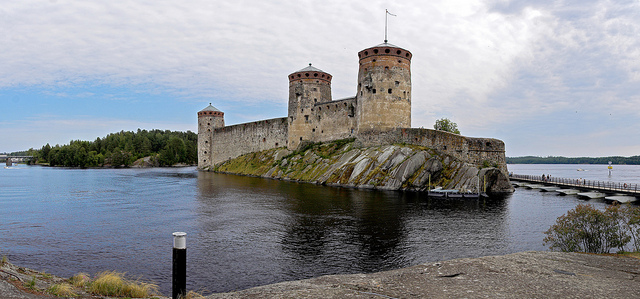 Olavinlinna castle panorama
