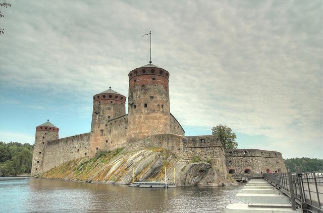 Olavinlinna view from the bridge