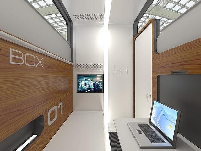 SleepBox Hotel business room