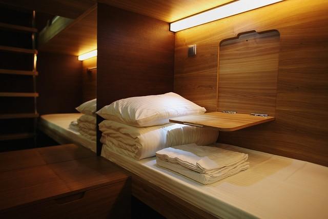 SleepBox Hotel room interior