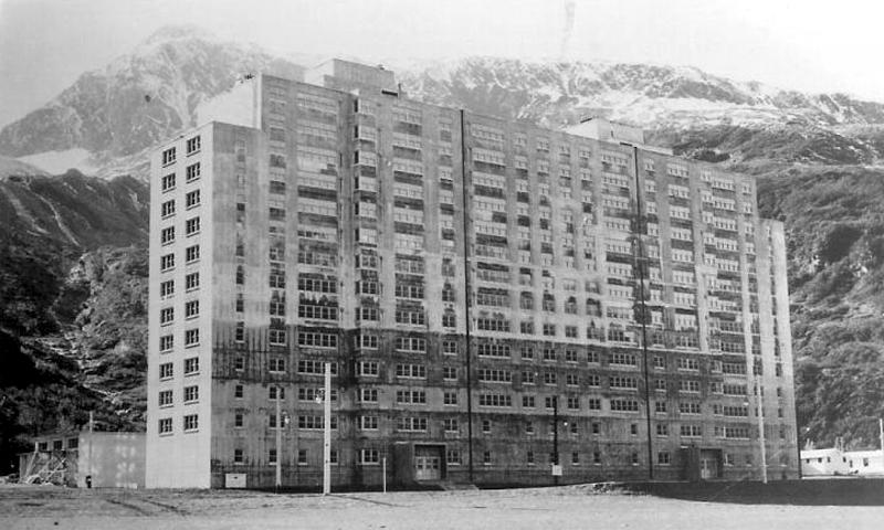 Buckner Building in Whittier, Alaska