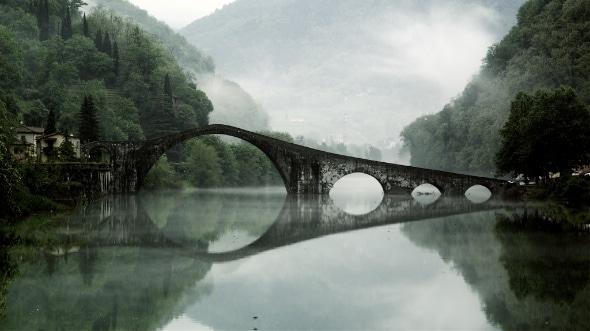 Devil's Bridge in Borgo a Mozzanoa