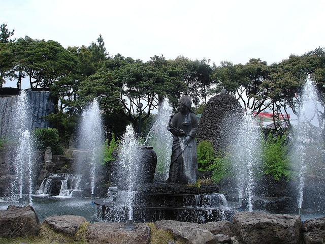 A display at the Jungmun Beach park in Jeju Island, Korea.