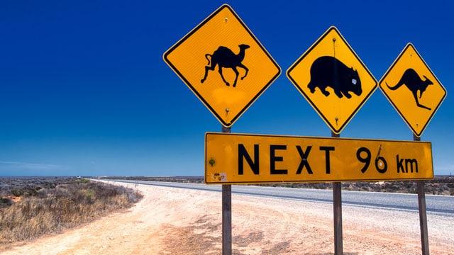 Australia desert road