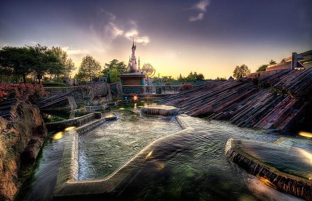 Disneyland Paris sunset