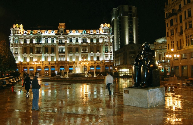 Oviedo at Night