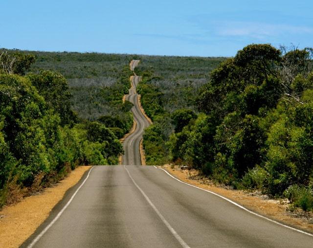 Road in Kangaroo Island, Australia