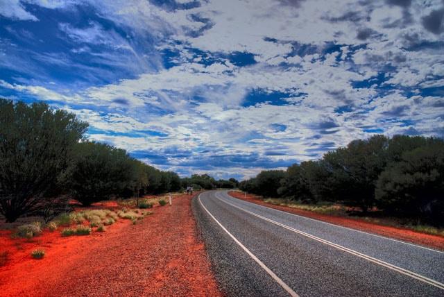 Road to Uluru, Australia