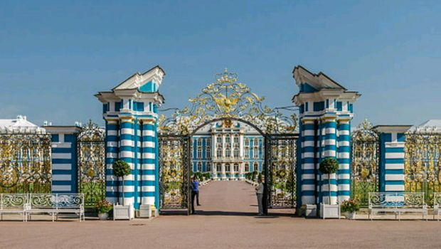 Entrance of Rococo Catherine Palace