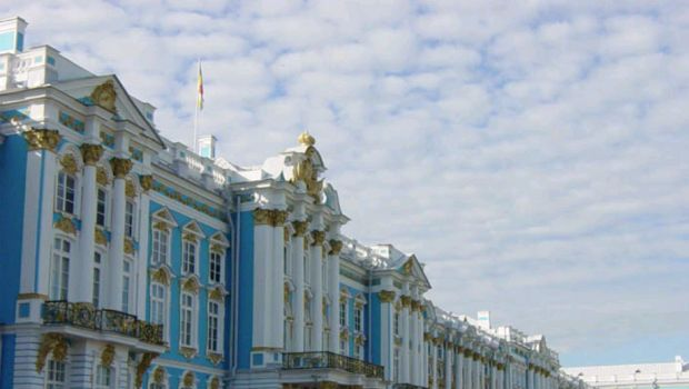 Rococo Catherine Palace in Russia