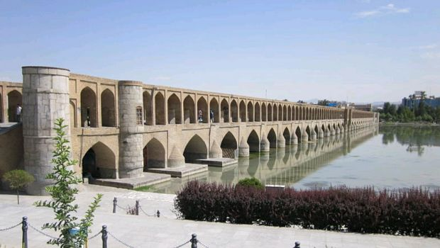 Bridge of 33 arches of Isfahan, Iran