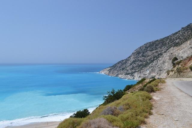Myrthos Beach in Kefalonia